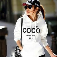 Wholesale Leisure Womens Korean Hoodie COCO Jacket Hoody Coat Outerwear Hooded Sweatshirt Tops Freeshipping Dropshipping