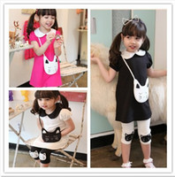 Cheap Wholesale-free shipping new 2015 kids pajamas for girls summer set brand children's clothing set baby clothes kids set t shirts +shorts
