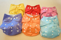 Wholesale TPU waterproof reusable pure colour baby cloth diapers nappies inserts