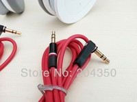 beats audio headphones - Red m mm male to male L Plug Stereo AUX Audio Cable for Monster beats headphone cell phone