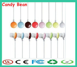 Wholesale Best Price piece Mini portable Colorful mm plug in ear headphone Candy bean earphones for mp3 player mobile phone