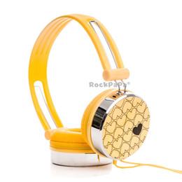 Wholesale Rockpapa Love Heart Pattern Overhead DJ Styles Headphones Headset for Kids Childs Boys Girls Teens Adult for iPod iPad iPhone