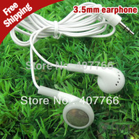 Cheap Free shipping,Good 3.5mm Cheap Earphones For IPhone 4G 4GS 3G 3GS   ITouch IPod Ipad MP3 MP4 MP5 PSP Player etc,50pcs per lot
