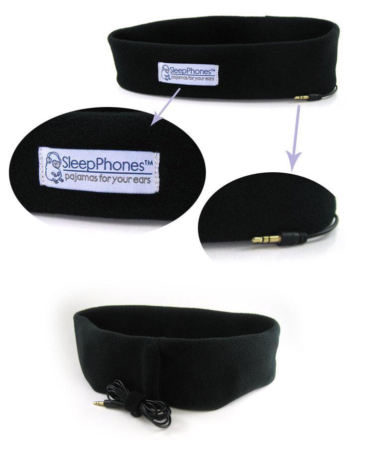 Sleeping Bundle Built-in Headphones Sport Running Earphone Headband Iphone Samsung Xiaomi phone Black Purple