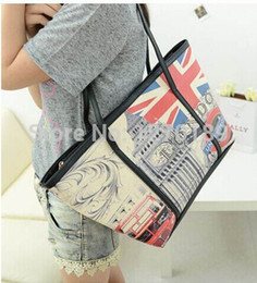 Wholesale Hot Sale Handbags Bags Sale Handbag For Graffiti Bag Uk British Flag Stamp Big Ben Shoulderbag Large Shopping Boat Student