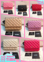 Wholesale New Quilted Plaid Woc Bags Women Fashion lambskin Leather wallet on chain shoulder messenger bag