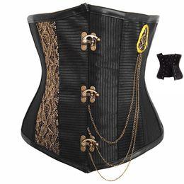 Wholesale Steampunk underbust corset S9059 sexy corset full steel bone corset