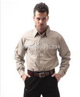 Wholesale Men s casual long sleeved shirt brand tactical shirts men multifunction outdoor camping hiking shirt