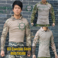 army bdu - Tactical G3 Combat shirt BDU Military Army airsoft Tshirt Elbow pads atacs fg outdoor hunting tops with protective Shinguards