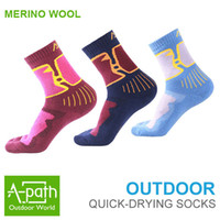 100 % wool socks - 2015 Autumn winter Outdoor sport hiking Moisture antibacterial Merino wool Sock Women semi thick keep warm sports Socks