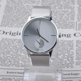 1Pcs New Elegant Classic Womens Men's Quartz Stainless Steel Wrist Watch Quartz Watch WristwatchesXMHM355