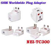 Wholesale TC300 GSM Bug Plug Adapter Ear Spy Charger Bug UK EURO Travel Charger Dual Band NEI TC300