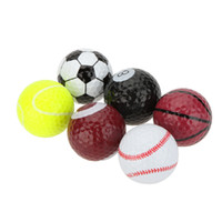 golf ball - 6pcs Creative Sports Golf Balls Novel Double Ball Two Piece Ball Golf Equipment