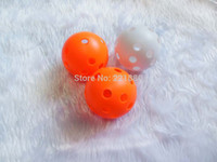 Wholesale Hot Selling Plastic Colorful Wiffle Ball Floorball mmx50pcs with Airflow Ball Hollow Indoor Practice ball