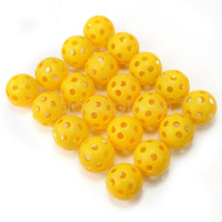 Wholesale 20Pcs High Quality Whiffle Airflow Hollow Plastic Practice Tennis Golf Balls New