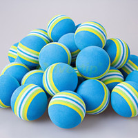 Wholesale Blue Rainbow EVA Foam Golf Balls BRB Sponge Indoor Outdoor Practice Training Aid Swing Backyard New