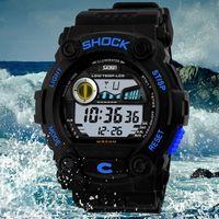 Wholesale 2015 nuevos hombres reloj marca de lujo m impermeable LED Digital multifuncin militares relojes Outdoor relojes estudiante r