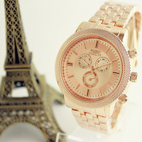invicta watch - 2015 New Fashion Casual luxury brand quartz watch rose gold watch women watches relogio INVICTA masculino brand wristwatch