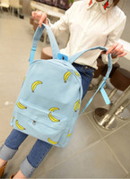 banana popsicles - Cute Girls Popsicle Canvas Backpack Women OK Hands Onion Banana Pattern Print printing school bags for girls bagpack