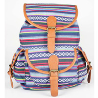 aztec print backpack - New Fashion Aztec printing backpack Vintage Cotton Canvas backpack for women Casual Ladies Girls school bags backpacks WB90