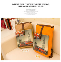 big ben backpack - 2015 big ben Union Flag pattern Great Britain style big PU leather casual backpack for girl