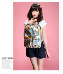 Wholesale Local Tyrants Gold Hologram Holographic Laser Faux PU Leather Backpack Shoulder Bag Hot Sale
