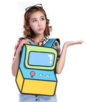 acrylic consoles - 2D Comic cartoon Backpacks Shoulder bags women s Game consoles Novelty bag CBB07