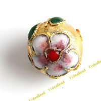Wholesale 100pcs Golden Round Cloisonne Charms Beads Fit Braclets Necklace Jewelry Accessories DIY