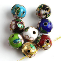 Wholesale 32pcs Mixed Round Cloisonne Charms Beads Fit Braclets Necklace Jewelry Accessories DIY