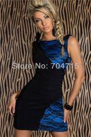 penic - High quality splicing cocktail dress penic dress mini dress slim bodycon dress S M XXL plus size vestiso de festa de renda