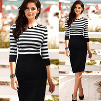 better cocktail dress - 2015 New Women Lady Slim Striped Bodycon Party Cocktail Clubwear Pencil Dress To Better