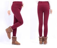 Wholesale 6 color Autumn winter Thicken Plus velvet Maternity leggings Cotton stomach lift trousers pants jeans for pregant women clothing