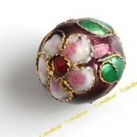 Wholesale 100 Coffee Cloisonne Charms Beads Carve Flower Filligree Cloisonn Beads Fit Diy Bead mm