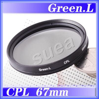 Wholesale 67mm Circular Polarizing C PL CPL PL CIR GREEN L LENS FILTER
