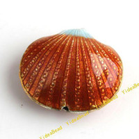 Wholesale 50 New Purplish Red Cloisonne Charms Beads Filligree Shell Cloisonn Beads Fit Diy Bead