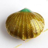 Wholesale 50 New Golden Cloisonne Charms Beads Filligree Shell Cloisonn Beads Fit Diy Bead Handcraft