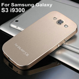 Wholesale-With Screw Luxury Aluminum Case for Samsung Galaxy S3 I9300 SIII Metal Matte Phone Cover Silver Champagne Black Pink YOTONE
