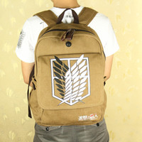 animation laptops - cosplay anime animation Shingeki no Kyojin Attack on Titan Aren student school bag canvas backpack laptop bag