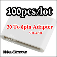 Wholesale To pin Sync data Charger Converter Adapter for iPhone S plus IOS With Retail packaging