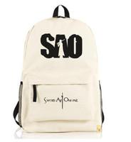 art supplies online - Sword Art Online School Bag supplies for chirdren teenagers kids girls SAO Backpacks men women anime bookbag satchel