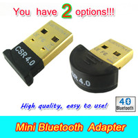 Wholesale Smallest Mini USB Bluetooth Blue Tooth Adapter V4 EDR USB Dongle for PC Laptop Free Drop Shipping