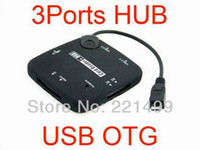Cheap [FREE SHIPPING EPACKET!] High Quality Micro USB Host OTG Card Reader 3 Ports Hub with Power for Samsung Galaxy S2 i9100 S3 I9300