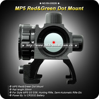 Wholesale New Perfect MP5 Red Green Dot Scope sight W mm Ring Mount Legend