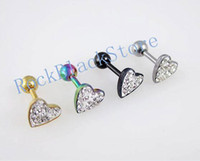 Cheap Crystal, Rhinestone body piering jewelry Best Children's Labret, Lip Piercing Jewelry earrings