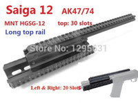 saiga - OEM UTG Type Saiga Ga Quad Rail See thru Scope Mount weaver forend For AK47 With Rubber Covers shotgun Picatinny