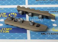 Wholesale 5 Slots Rail Panel KeyMod For AIRSOFT URX4 Rail BK TAN