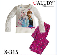 Wholesale X childrens minnie mouse pajamas sleepwear clothes sets cartoon pajama girls purple tshirts pants clothing set cotton