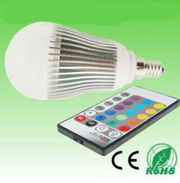 DHL free shipping 5W E14 RGB led light color changing light RGB LED Bulb RGB LED lighting LED light