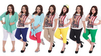 Wholesale new summer women s casual plus size stretch candy multi colours capri