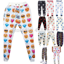 Free shipping new 3D explosion models Emoji Joggers jogging pants for women